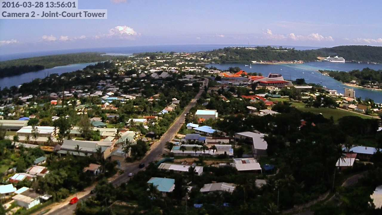 Webcam For The Port Of Port Vila